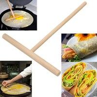 1PCS Chinese Wooden  Crepe Maker Pancake Batter Spreader  Multi functional Cake Kit DIY Home Kitchen Tool|Pie Tools| |  -