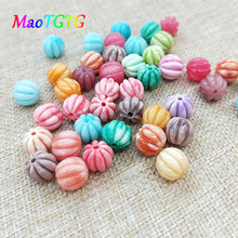 Colored Pumpkin Shaped Coral Beads For Jewelry Making Necklace Bracelet Multi-color Pumpkin Beads DIY Accessories Wholesale недорого