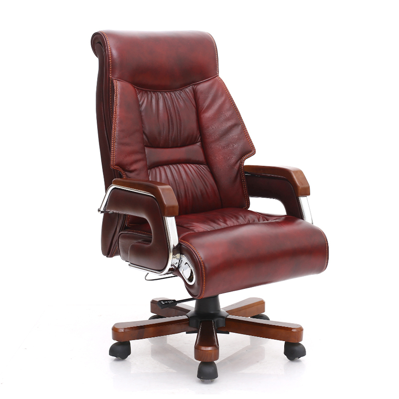 Luxury Massage Chair High-end Synthetic Leather Executive Chair Computer Home Ergonomic Lift Swivel Chair PU Office Chair Seat