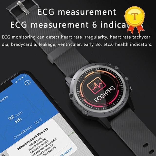 Смарт часы мужские с пульсометром и тонометром, водостойкие, IP68