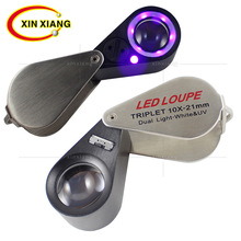 Portable Illuminated Magnifier 10X Handheld Magnifying Glass 6 LED Magnifier Handheld Jewelry Loupe Mini Loupe LED Lupe 20x magnifier illuminated magnifier lamp magnifying loupe with 12 led lights handheld led magnifier jewelry loupe reading aid