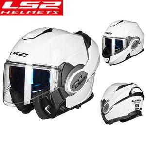 Image 5 - LS2 FF399 Lật Lên Moto Rcycle Mũ Bảo Hiểm Con Người Mô Đun Moto Chéo Đua Capacete LS2 Mũ Bảo Hiểm Casco Moto Capacete De Moto cicle ECE