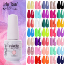 Arte Clavo Hybrid Varnishes 8ml Gel Nail Polish All For Manicure Semi Permanent UV Gel Nail Lacquer Soak Off Top Base Coat