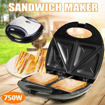 Multifunction Electric Eggs Sandwich Maker Non Stick Mini Bread Grill Waffle Crepe Toaster Pancake Baking Breakfast Machine 750W