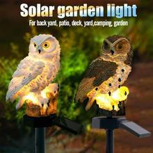 Lechuza luz Solar con luces LED de jardín 2019 nueva llegada lámpara de césped alimentada por energía Solar hogar exterior jardín creativo lámparas solares