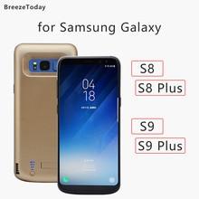 5000 6500mAh batterie boîtier dalimentation pour Samsung Galaxy S8 S8 Plus S9 S9 Plus batterie chargeur boîtier batterie