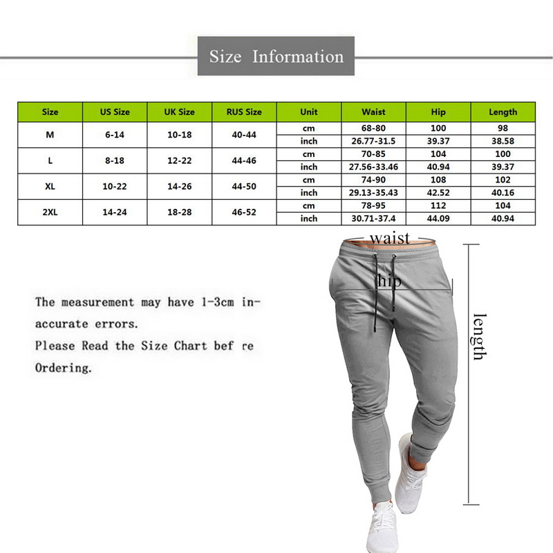 HEFLASHOR 2019 New Mens Sports and Leisure Trousers Full Length Solid Color Versatile Running Drawstring Training Fitness Pants