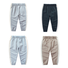 2019 New Kids Summer Cotton Lantern Pants Anti - mosquito Boys and Girls Solid Color Thin Trousers Sports