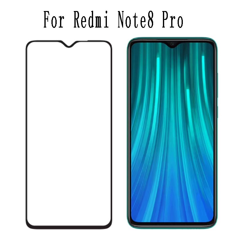 10Pcs Full Glue Tempered Glass For Xiaomi Redmi Note 8 Pro Screen Protector Film For Xaomi Redmi 8 Full Cover Protective Glass