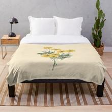 Increíble manta Vintage amarillo Retro con flores para el sol, manta suave Sherpa, Sábana de cama, manta de una sola rodilla, manta para siesta Oficina