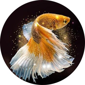 5D ダイヤモンド刺繍クロスステッチ魚非フル平方ダイヤモンド塗装動物ラウンドダイヤモンドモザイク家の装飾のギフト