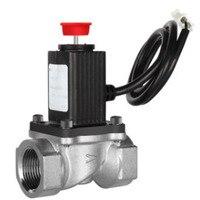 Dn15 ручной сброс G1/2 дюйма G3/4 дюйма природный газ аварийный запорный клапан для дома горючий газ Автоматический Газовый клапан соленоид