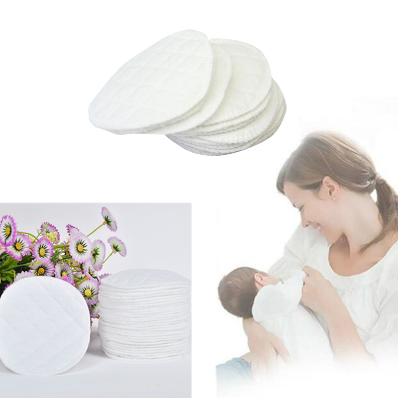 Women 10pcs/set High Quality Three Layers Of Ecological Cotton Washable Breastfeeding Pads Nursing Pads