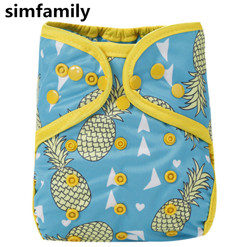 [simfamily]1PC Washable Adjustable Cloth Diaper Cover Double Gusset PUL Baby Nappy Suit 3-15kgs