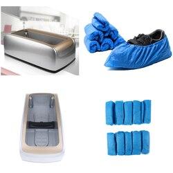 Автоматический диспенсер для крышки обуви с 100 шт. овербусами для домашнего офиса, стерильные лабораторные поставки для больниц