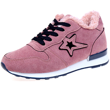 Women Winter Warm Fashion Sneakers Woman Flats Shoes Zapatillas Mujer Female Walking Shoes Outdoor Womens Casual Shoes Pink 2019 все цены