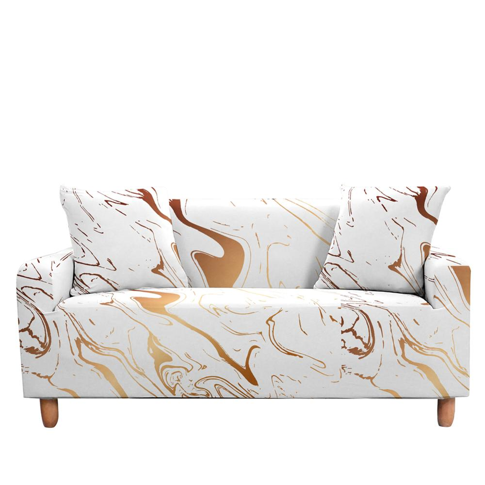 Marble Colorful Sofa Cover Sofa Slipcovers Elastic Sofa Cover Armchair Slipcovers Dining Slipcovers 3 Seaters Stretch