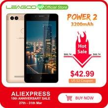 """LEAGOO כוח 2 נייד טלפון אנדרואיד 8.1 5.0 """"HD IPS 2GB RAM 16GB ROM MT6580A Quad Core מצלמה כפולה זיהוי טביעת אצבע 3G Smartphone"""