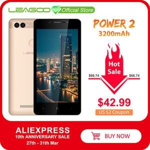 "LEAGOO POWER 2 Mobile Phone Android 8.1 5.0""HD IPS 2GB RAM 16GB ROM MT6580A Quad Core Dual Camera Fingerprint ID 3G Smartphone(China)"