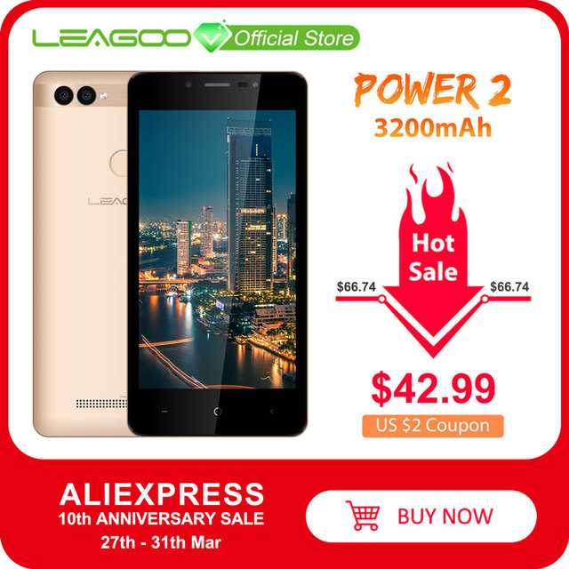 $ US $42.71 LEAGOO POWER 2 Mobile Phone Android 8.1 5.0