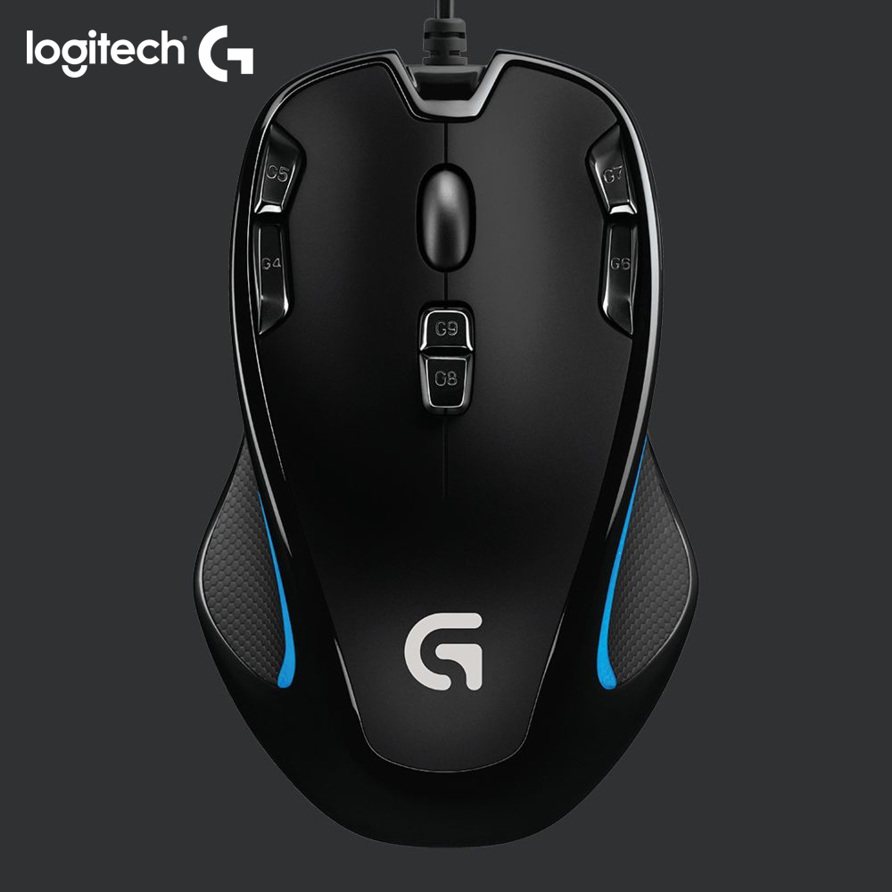 Logitech original mouse G300S Optical gaming mouse by logitech with 2500 DPI for PC mouse gamer play overwatch Starcraft War3 image