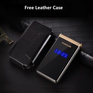 "Image 3 - 2.8"" Handwriting Large Display Flip Senior Phone Long Standby SOS Fast Dial Big Key BT Blacklist Flashlight Dual Sim Free case"