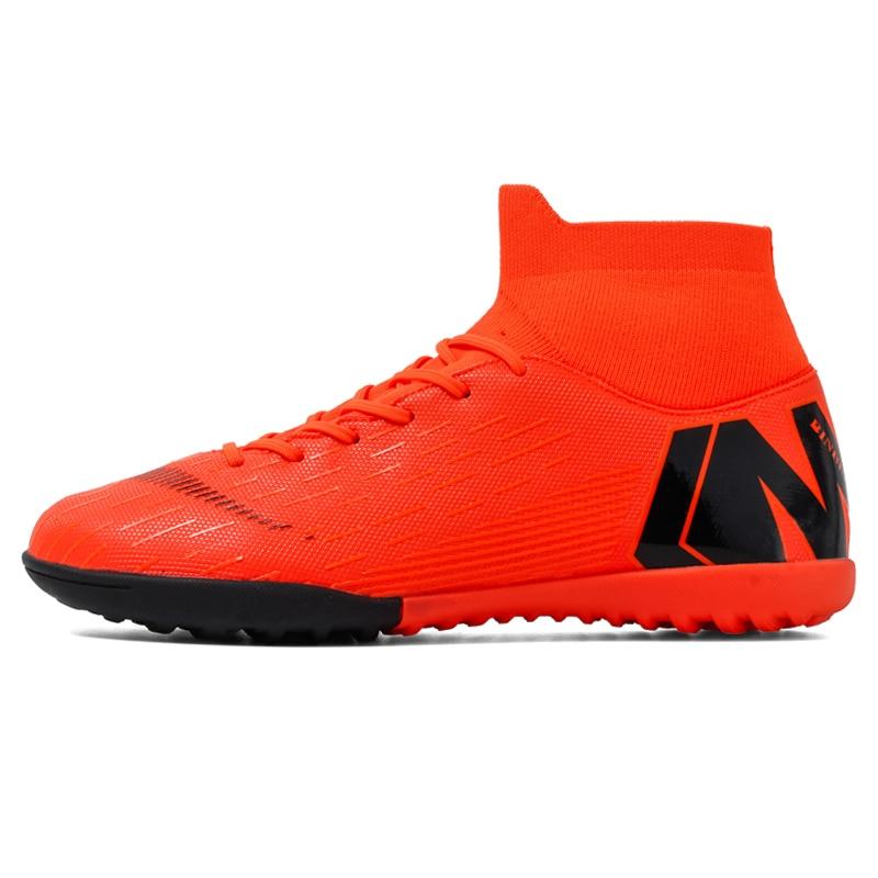 Botas de Futebol Chuteiras de Futebol Sapatos de Treinamento Tênis de Futsal Turf Indoor Soccer Shoes Homens Alta Tornozelo Original Superfly Crianças