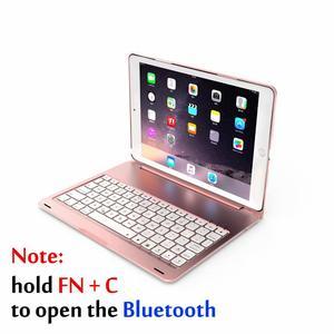 Image 2 - Pokrowiec na iPad Air 3 10.5 2019 Smart Sleep 7 kolorów podświetlany lekki bezprzewodowy pokrowiec na klawiaturę Bluetooth do ipada Pro 10.5