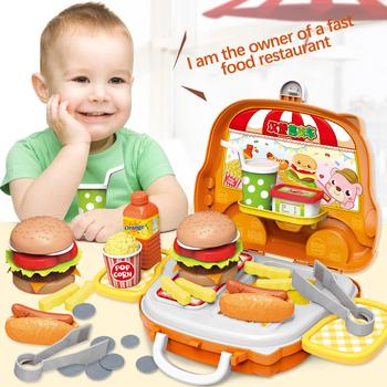 Nowa przenośna walizka zabawki narzędzie kuchnia kosmetyki medyczne Juguetes chłopiec dziewczyna edukacyjne udawaj zabawki dla dzieci pojemnik na bagaże tanie i dobre opinie skxnier Z tworzywa sztucznego 5-7 lat Unisex Educational Pretend Play Game Kids Pretend play Portable Suitcase Toy Pretend Play Toys
