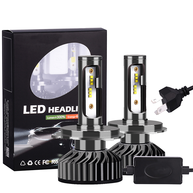 New Arrival H7 <font><b>LED</b></font> Headlight Bulbs H4 H11 <font><b>H3</b></font> H8 H11 Hb4 <font><b>Led</b></font> <font><b>Canbus</b></font> <font><b>Led</b></font> Light Lamp For Auto 12V 6500K 8000LM image