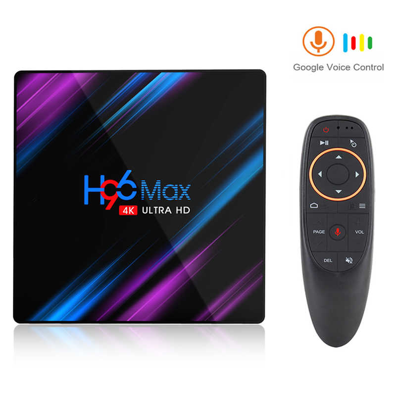 Google Play Tv box android 9.0 H96 MAX Rockchip 4G 16GB 32GB 64GB Android tv box 2.4/5.0G WiFi Bluetooth 4.0 4K 3D Android box