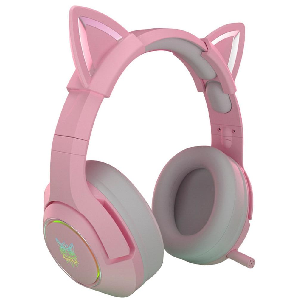 Nova chegada led gato orelha jogos fones