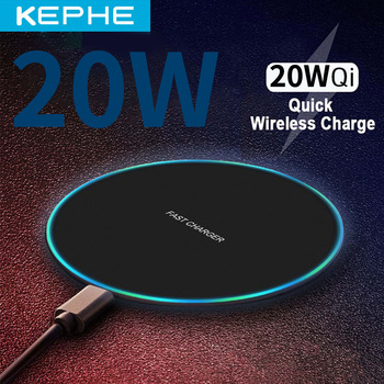 20W qi Wireless Charger for iPhone 11 12 X XR XS Max 8 fast wirless Charging for Samsung Xiaomi Huawei phone Qi charger wireless 1