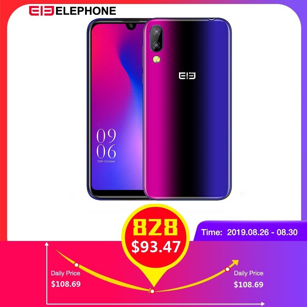Elephone A6 Mini 4G Smartphone 5.71 pouces Android 9.0 MT6761 Quad Core 4GB RAM 64GB ROM capteur d'empreinte digitale latérale téléphone portable
