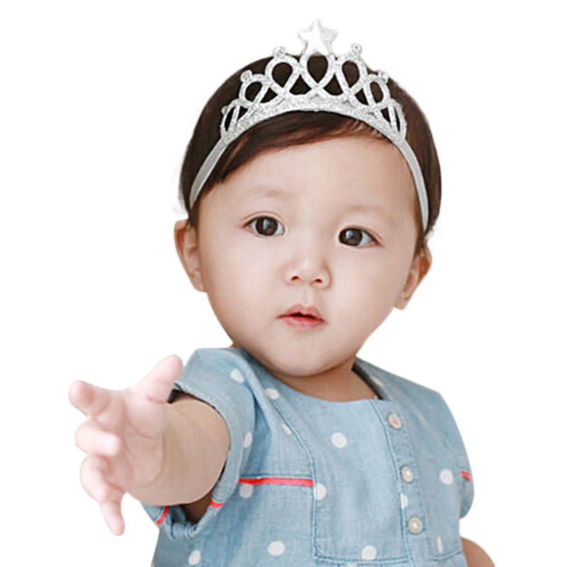 Infant Baby Girls Cute Cotton Cloth Crown Hair Band Newly Fashion Golden White High Quality Princess Hair Accessories Headband