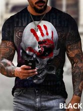 Fashion T-shirt wear 3D personality skull print t shirts for men harajuku Casual sports tops male oversized Streetwear