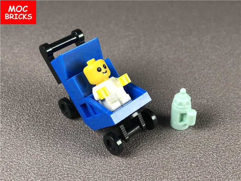 Набор строительных блоков MOC DIY для малышей/младенцев с детской кареткой в бутылке cty668, строительные блоки, кирпичи, игрушки для детей, подар...