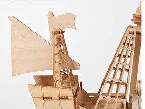 Image 3 - يتوهم DIY الإبحار السفينة لعب 3D خشبية لغز لعبة الجمعية نموذج الخشب عدة أشغال يدوية مكتب الديكور لعب للأطفال أطفال هدية