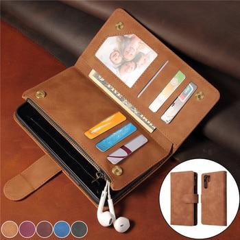 Flip Leather Case For Huawei P30 Lite P40 Mate 30 Pro P Smart 2019 Retro Zipper Wallet Card Cover Honor 10 Lite 20 i Cases Coque