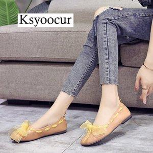 Image 2 - ยี่ห้อ Ksyoocur 2020 ใหม่สุภาพสตรีแบนรองเท้ารองเท้าสบายๆผู้หญิงรองเท้าสบายๆรอบนิ้วเท้ารองเท้าแบนฤดูใบไม้ผลิ/ฤดูร้อนผู้หญิงรองเท้า x06