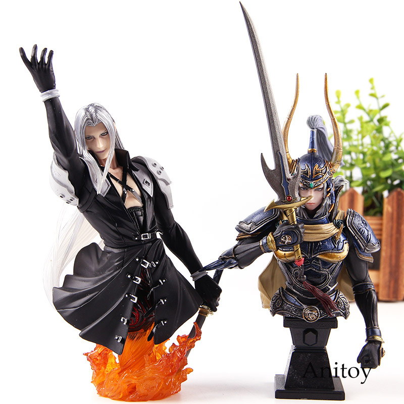 <font><b>Final</b></font> <font><b>Fantasy</b></font> Sephiroth / Warrior of Light Bust Figure Paly Arts Kai FF7 <font><b>Final</b></font> <font><b>Fantasy</b></font> <font><b>7</b></font> Figure Action PVC Collection Model Toys image