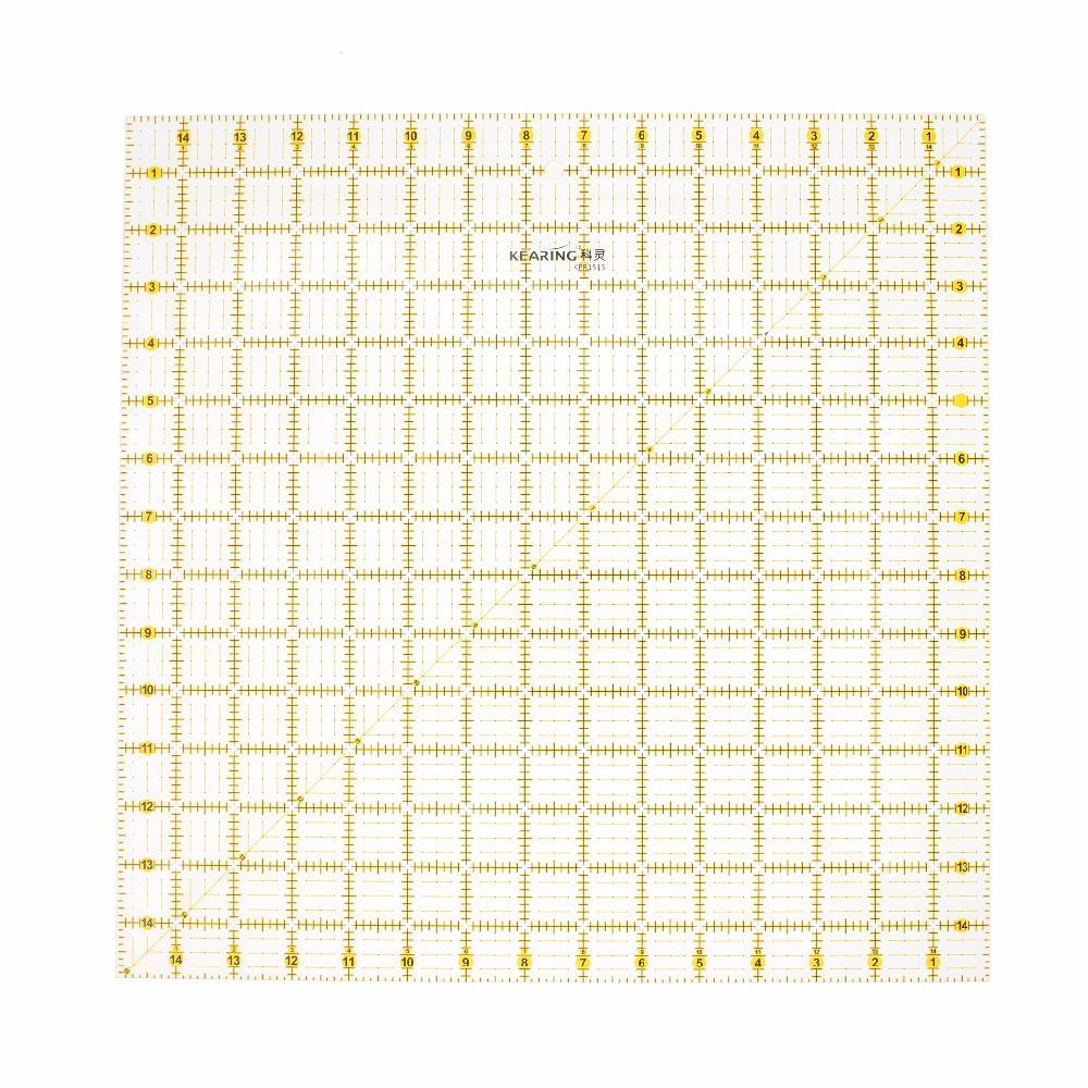 Clear Quilting Sewing Ruler Square Patchwork Ruler Thick Acrylic Cutting Measure