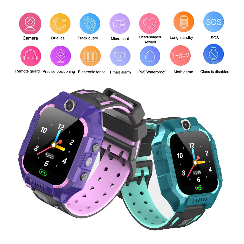 Children's watch E12 Telephone Intelligent Watch LBS Location One-button SOS Remote Watches digital wrist watch gift