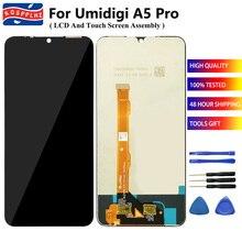 """6.3 """"สำหรับ UMIDIGI A5 PRO จอแสดงผล LCD + TOUCH Digitizer ทดสอบ 100% สำหรับ UMIDIGI A5PRO + เครื่องมือ + เทป"""