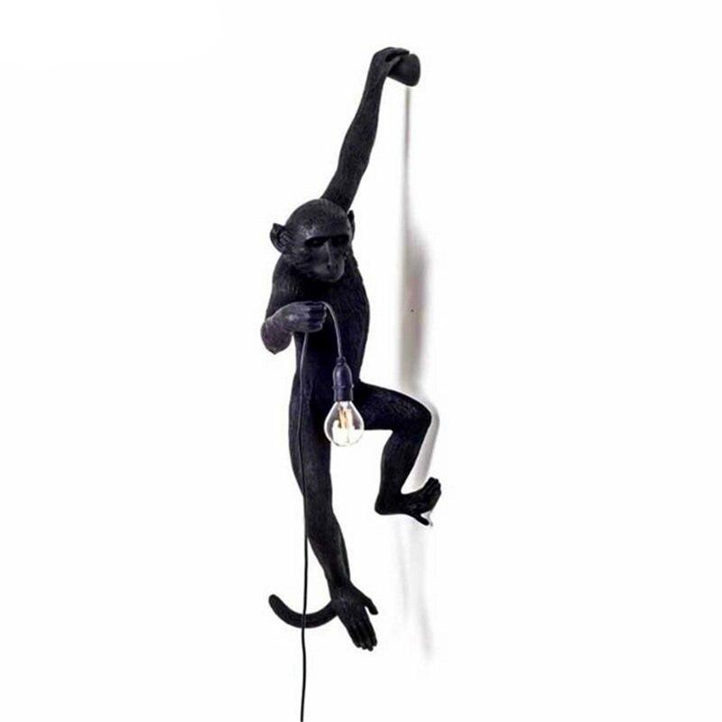 Moderno mono lámpara cuerda LED luces colgantes iluminación 7 colores arte nórdico réplicas resina Seletti lámpara colgante mono lámpara luminaria - 4