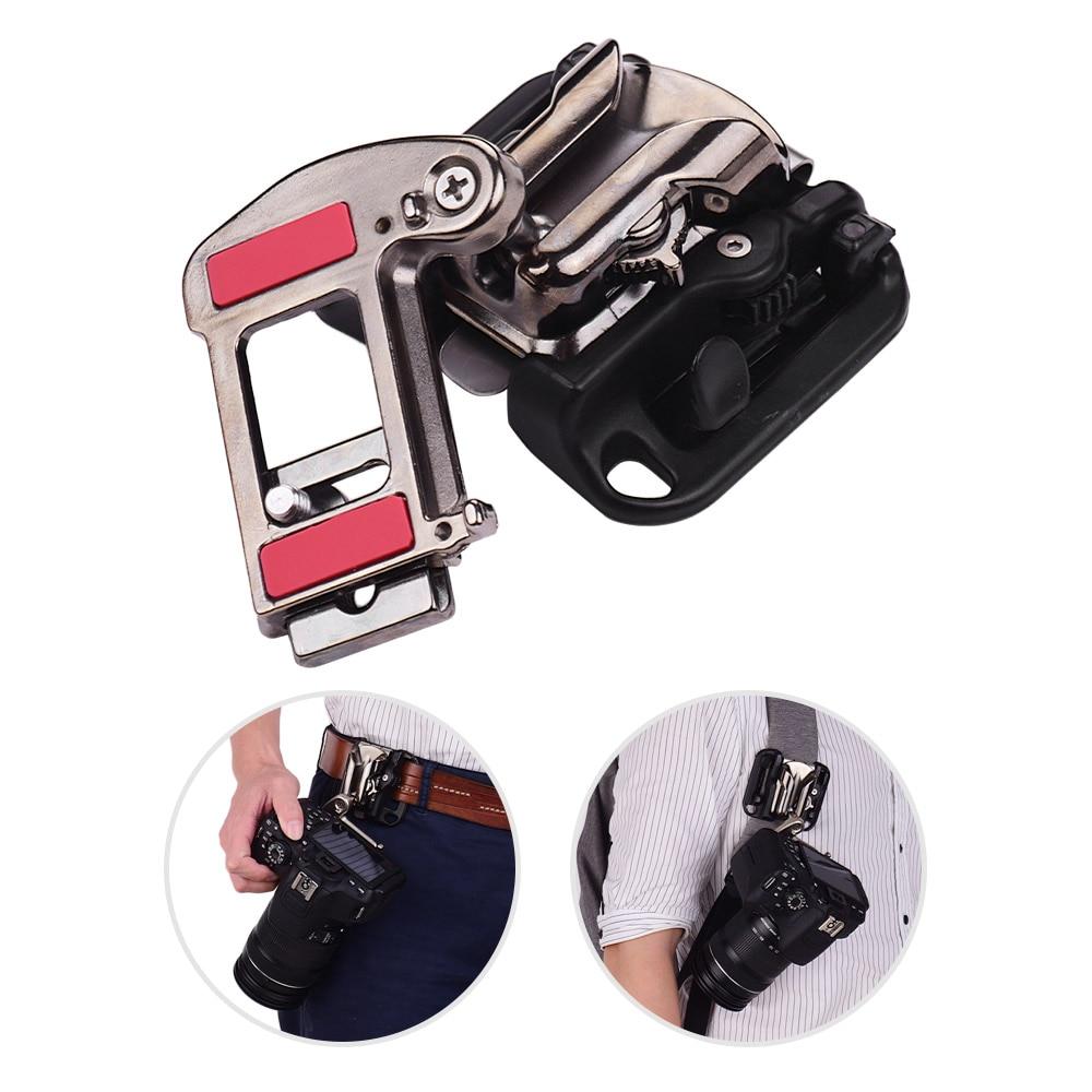 Camera Belt Holster Hanger Mount Waist Clip Holder Hanger Quick Release Plate for Canon Nikon Sony Olympus DSLR Digital Camera