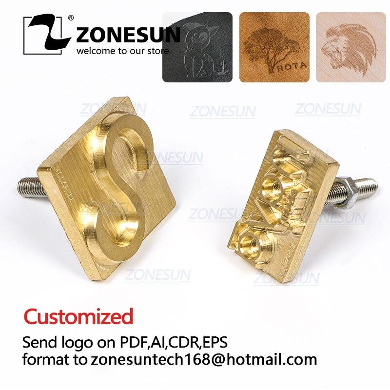 Zonesun bronze cobre que carimba o molde da máquina, molde do selo de couro morre corte grava o molde, molde de cobre de bronze, bronzeamento de couro morre cortado