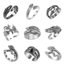 2020 mais novo anel masculino animal cobra lagarto forma dragão abertura ajustável moda jóias presente vendas diretas