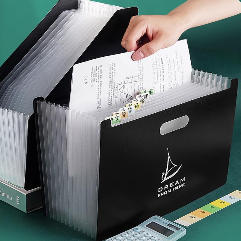 Desktop File Folder A4 Paper Organizer Storage Holder Multilayer Expanding Box Business File Office Supplies Document Holder