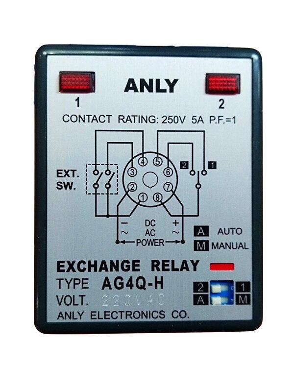 Original Authentic Anly Ag4q-h3 Alternate Relay Motor Operação Alternativa Ag4q-h Ag4q-hs